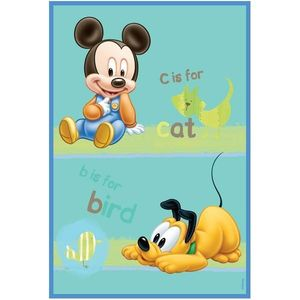 Covor copii Babies Mickey si Pluto model 308 140x200 cm Disney imagine