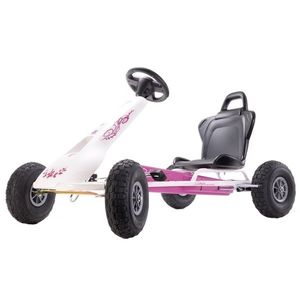 Kart cu pedale Ferbedo Air-Racer Flower imagine