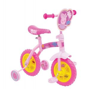 Bicicleta copii Peppa Pig 10 inch 2 in 1 cu si fara pedale imagine