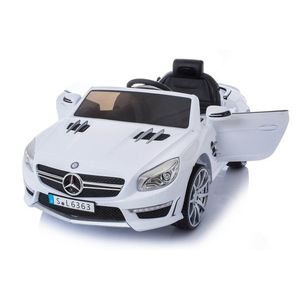 Masinuta electrica cu roti din cauciuc Mercedes Benz AMG SL63 White imagine