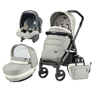 Carucior 3 In 1 Peg Perego Book Plus 51 Black Completo Elite Luxe Opal imagine
