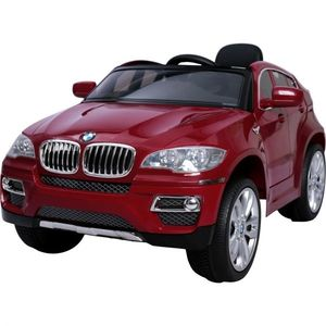 Masinuta electrica BMW X6 Red cu roti din cauciuc imagine