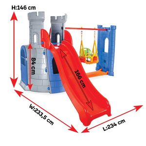 Spatiu de joaca Castel Swing and Slide imagine