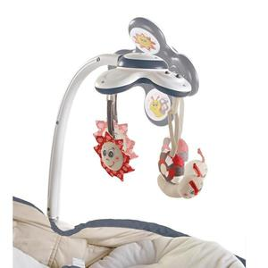 Sezlong 3 in 1 Rocker Napper Gri-Bej Tiny Love imagine