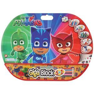 Set desen si accesorii Pj Masks Giga Block 5 in 1 imagine