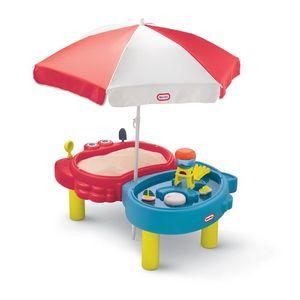 Masuta pentru nisip si apa cu umbreluta - Little Tikes imagine