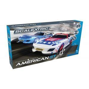 Pista masinute American GT Scalextric 5m traseu masinute GT Lightning No 27 Race Car si GT Eagle No 66 Race Car imagine