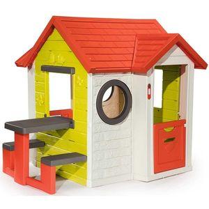 Casuta pentru copii Smoby My House cu masuta picnic imagine