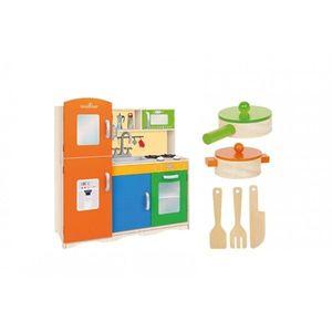 Bucatarie Globo pentru copii din lemn cu accesorii 80 X 30.5 X 85 cm imagine
