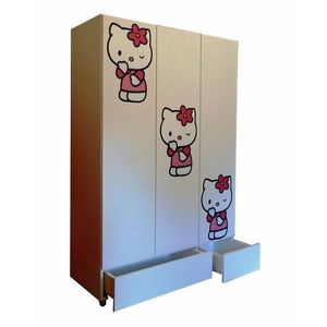 Sifonier Kitty cu usi si sertare imagine