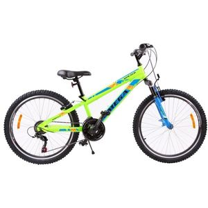 Bicicleta mountainbike copii Omega Gerald 24 18 viteze verde 2019 imagine