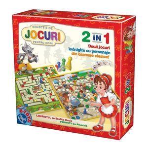 Joc 2 în 1 - Joc Labirintul cu Scufița Roșie și Joc Peripetii cu Pinocchio imagine