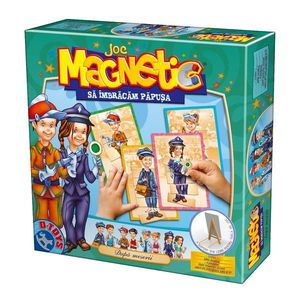 Joc Magnetic - Să Îmbrăcăm Păpușa - După Meserii imagine
