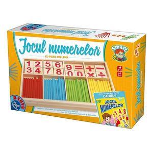 Jocul Numerelor cu Piese din Lemn imagine