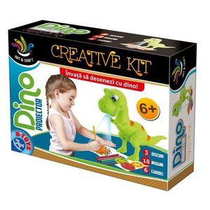 Joc Creativ - Dino Proiector - Învață Să Desenezi cu Dino imagine