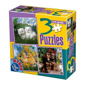 3 Puzzles - Foto - Animale Domestice - 1 imagine