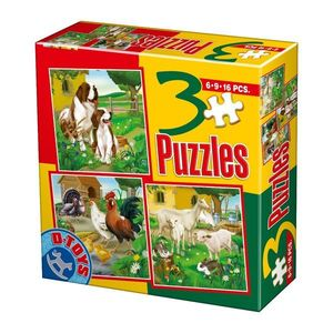 3 Puzzles - Animale Domestice - 1 imagine