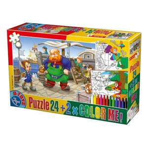 Puzzle Basme - Color Me - 24 Piese - 5 imagine