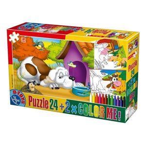 Puzzle Animale - Color Me - 24 Piese - 2 imagine