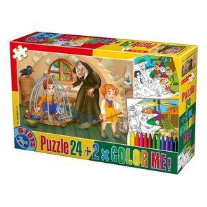Puzzle Basme - Color Me - 24 Piese - 7 imagine