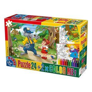 Puzzle Basme - Color Me - 24 Piese - 6 imagine