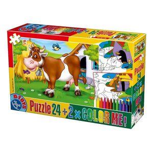 Puzzle Animale - Color Me - 24 Piese - 1 imagine