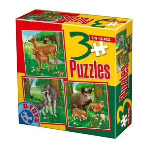 3 Puzzles - Animale Domestice - 3 imagine