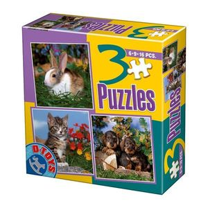 3 Puzzles - Foto - Animale Domestice - 2 imagine