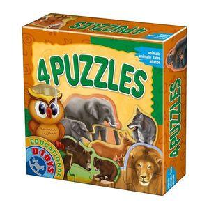 4 Puzzles - Animale Sălbatice imagine