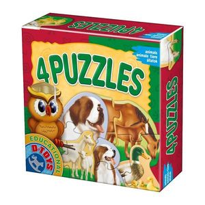4 Puzzles - Animale Domestice imagine