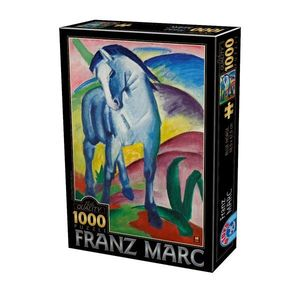 Puzzle Franz Marc - Blue Horse - 1000 Piese imagine