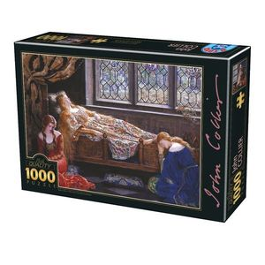 Puzzle John Collier - The Sleeping Beauty - 1000 Piese imagine