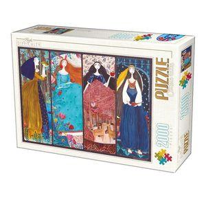 Puzzle Kürti Andrea - The Frog Prince, Sleeping Beauty, Snow White, Arabian Nights - 2000 Piese imagine
