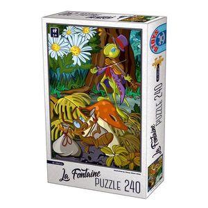 Puzzle - La Fontaine - Greierele şi furnica - 240 Piese imagine