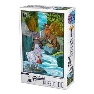 Puzzle - La Fontaine - Lupul şi Mielul - 100 Piese imagine