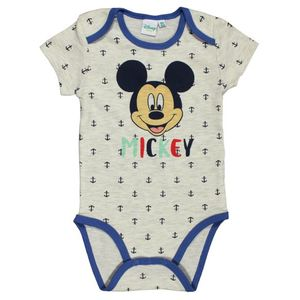 Body cu maneca scurta si imprimeu Disney Mickey Mouse, Gri imagine