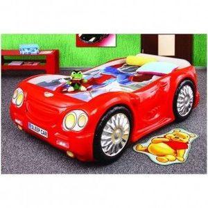 Patut pentru copii masina Plastiko Sleep Car Rosu imagine