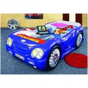 Pat masina pentru copii Plastiko Sleep Car Albastru imagine