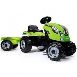 Tractor cu pedale si remorca Smoby Fun Farmer XL Verde imagine