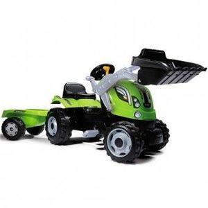 Tractor cu pedale si remorca Smoby Fun Farmer Max Verde imagine