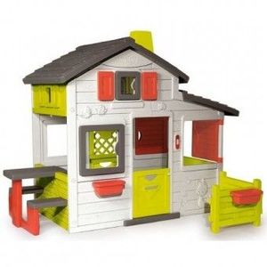 Casuta Copii cu gradina Smoby Fun Friends Playhouse imagine