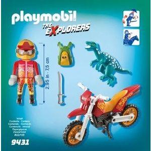 PlayMobil 4Ani+ CERCETATOR - MOTOCICLIST SI RAPTOR imagine