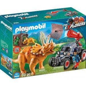 PlayMobil 4Ani+ CERCETATOR - Automobil si Triceraptors imagine