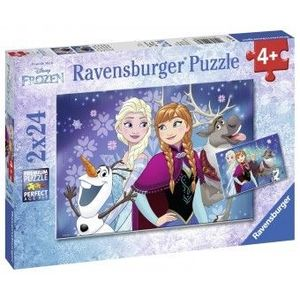 PUZZLE Have Fun 4Ani+ FROZEN, 2x24 PIESE imagine