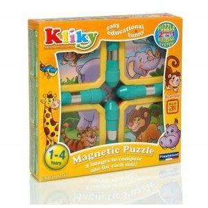 KLIKY PUZZLE Copii 1An+ MAGNETIC ANIMALE SAFARI imagine