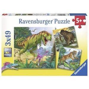 Puzzle Copii 5Ani+ dinozauri, 3x49 piese imagine
