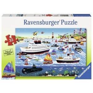 Puzzle Copii 4Ani+ port fericit, 35 piese imagine
