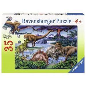 Puzzle Copii 4Ani+ dinozauri, 35 piese imagine