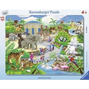 Puzzle Copii 4Ani+ vizita la zoo, 45 piese imagine