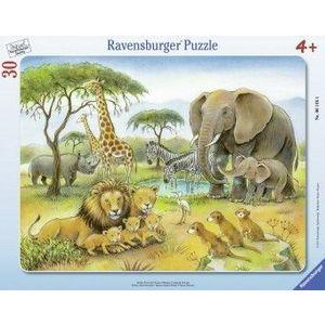 Puzzle Copii 4Ani+ africa salbatica, 30 piese imagine